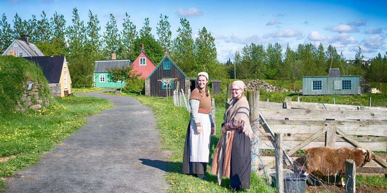 Árbær Open Air Museum in the summer