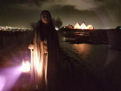 Síðla kvölds á Árbæjarsafni